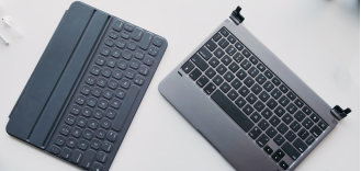 相比之下 Brydge Pro与Apple Smart Keyboard